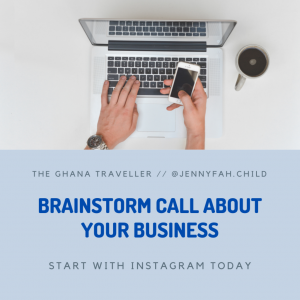 Brainstorm call about your business